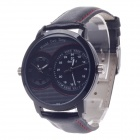 DayBird 3808 Fashionable Dual Time Zone Display Men's Quartz Wrist Watch - Black (1 x LR626)