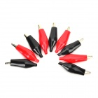 Buy Large Size Power Test Clips - Black + Red (10 PCS)