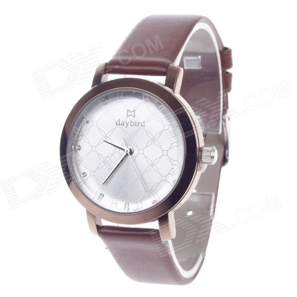 DayBird 3818 Fashionable Women's Quartz Analog Wrist Watch - Brown (1 x LR626)