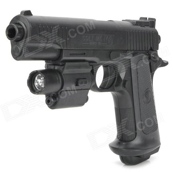 P355B 6mm Pistol Spring-load BB Gun Toy with Laser Sight and Blue Light Flashlight