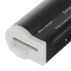 4-in-1 USB 2.0 SD / MicroSD / TF / MS / M2 Card Reader - Black (Max. 32GB)