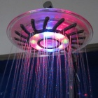 8 inch ABS 7-Color Changing LED Chrome Contemporary Round top Shower Head - Silver