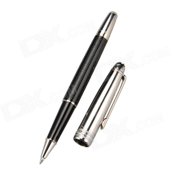 High-end Commercial 0.5mm Gel Ink Pen - Black + Silver 1pcs lot kawaii vintage 3d cool planet design gel pen 0 38mm black ink signing pen funny gift office school supplies
