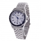 Haibo Stainless Steel Band Men's Automatic Mechanical Wrist Watch w/ Date / Week Display - Silver