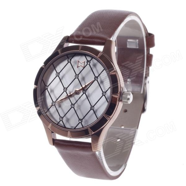 Daybird 3819 Fashionable Mesh Style Surface Women's Quartz Wrist Watch - Brown (1 x LR626)