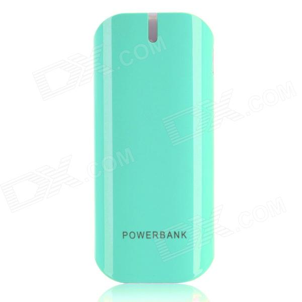 BP 5600mAh Mobile Power Source Bank w/ Stroboscopic LED Light for / Iphone / Samsung / HTC - Blue bp 15000mah dual usb mobile power source bank for iphone 5s samsung htc white green