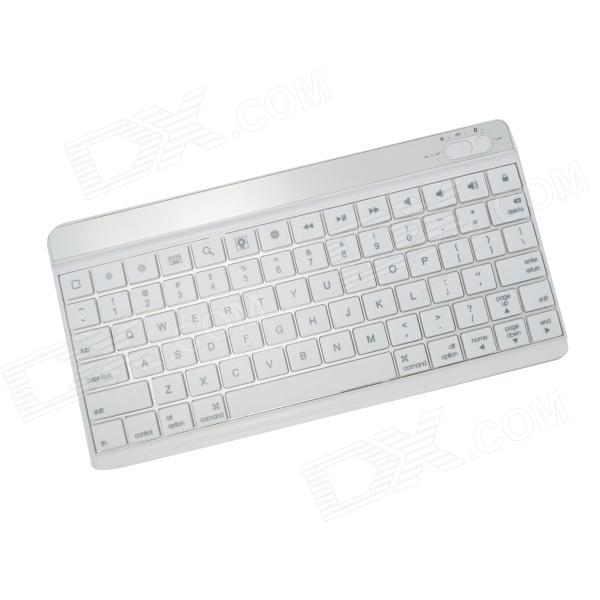 BK-996 Mini Ultra-thin Bluetooth V3.0 78-Key Keyboard for Ipad / Iphone / Samsung Galaxy Tab - White