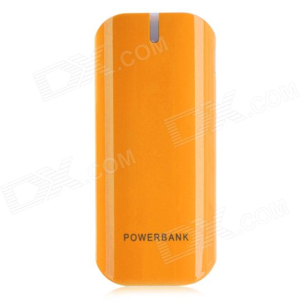 BP 5600mAh Mobile Power Source Bank w/ Stroboscopic LED Light for / Iphone / Samsung / HTC - Orange bp 15000mah dual usb mobile power source bank for iphone 5s samsung htc white green
