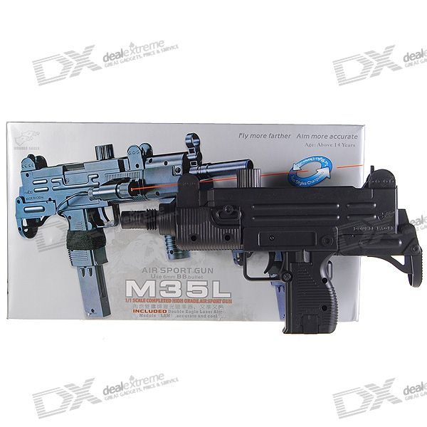 M35L 6mm Pistol Spring-load BB Gun Toy with Laser Sight