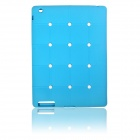Cute Stereoscopic Polka Dot Beans Protective Silicone Back Case for iPad Air - Blue
