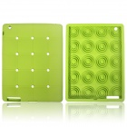 Cute Stereoscopic Polka Dot Beans Protective Silicone Back Case for iPad Air - Green