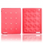 Cute Stereoscopic Polka Dot Beans Protective Silicone Back Case for iPad Air - Pink
