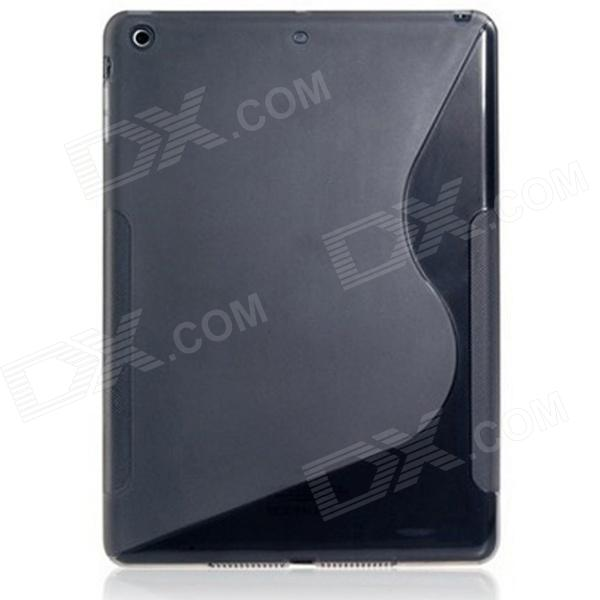S Style Ultra-slim Protective TPU Back Case for Ipad AIR - Black