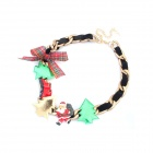 Characteristic Christmas Series Zinc Alloy + PU leather Women's Necklace - Multicolored