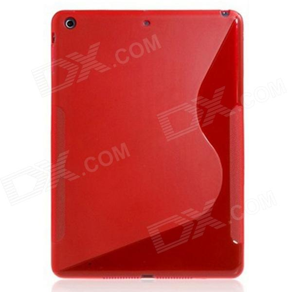 S Style Ultra-slim Protective TPU Back Case for Ipad AIR - Red