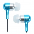 Jia Tianxia J903 Zipper Shape Universal Earphones for Retina Ipad MINI + More - Blue + Black