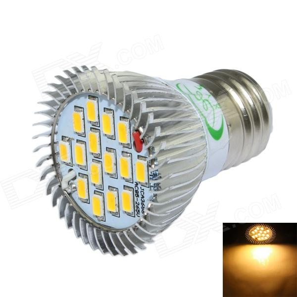 XinYiTong E27 7W 600lm 3000K 15 x SMD 5630 LED Warm White Spotlight Bulb - Silver + White (85~265V) e27 7w 260lm 35 smd 5050 led warm white light bulb white silver ac 85 265v