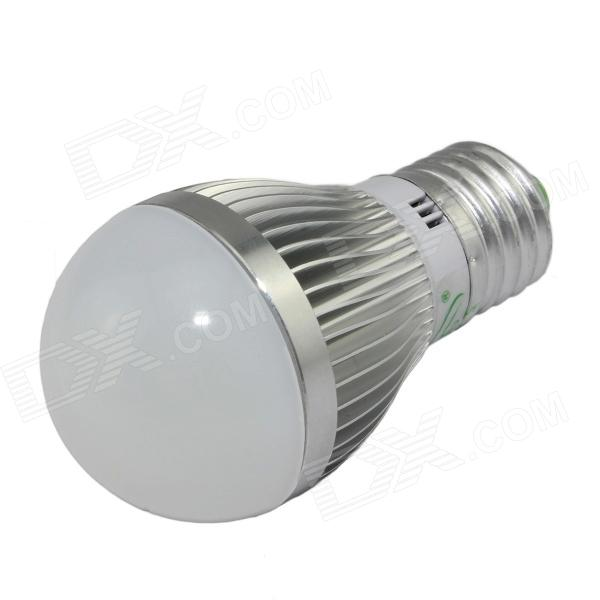 XinYiTong E27 7W 600lm 3000K 15 x SMD 5630 LED Warm White Light Bulb - Silver + White (85~265V) cxhexin g9cx24 5630 g9 5w 3000k 400lm 24 5630 smd led warm white light bulb white ac 85 265v