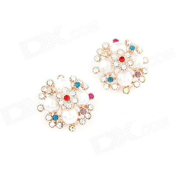 Fashionable Pretty Dominate Zinc Alloy Women's Earrings - Multicolored (Pair)