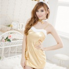 Rich Sexy Bunny Dress - Golden (Free Size)