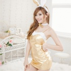 Cosplay Sexy Bunny Dress - Golden (Free Size)