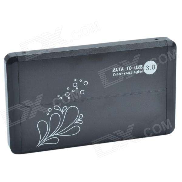 High Speed 2.5 USB 3.0 SATA HDD Enclosure - Black (Max. 3TB) usb 3 0 2 5 sata hdd enclosure black super speed 5gbps