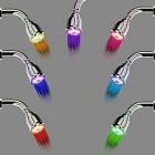 Contemporary Chrome Finish Wall Mount 7-Color Changing LED Showerhead - Silver