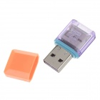 Multifunctional USB 2.0 Micro SD / TF Card Reader - Orange + Purple (Max. 32GB)