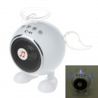 C-41 USB 2.0 Angel Style Mini Luminous Speaker w/ FM for Ipad / Laptop / MP3 / MP4 + More - White