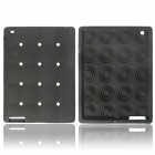 Cute Stereoscopic Polka Dot Beans Protective Silicone Back Case for iPad Air - Black