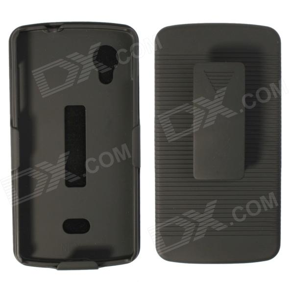 Фото Multifunctional Striped Protective case w/ Clip / Stand for LG Nexus 5 - Black