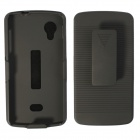 Multifunctional Striped Protective case w/ Clip / Stand for LG Nexus 5 - Black