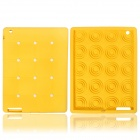 Cute Stereoscopic Polka Dot Beans Protective Silicone Back Case for iPad Air - Yellow