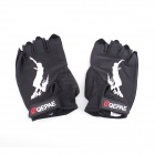 QEPAE F031 Roller-skating Hand Guard Extreme Sports Half-Finger Gloves - Black (Size-L / Pair)