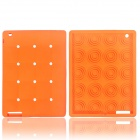 Cute Stereoscopic Polka Dot Beans Protective Silicone Back Case for Ipad AIR - Orange