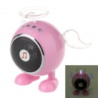 C-41 USB 2.0 Angel Style Mini Luminous Speaker w/ FM for Ipad / Laptop / MP3 / MP4 + More - Pink