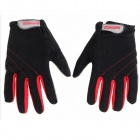 GF-04 Outdoor Skiing Full Fingers Anti-Slip Hands Warmer Gloves - Red + Black