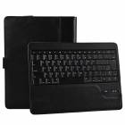 Detachable Wireless Bluetooth V3.0 84-key Keyboard w/ PU Leather Case for Ipad 2 / 3 / 4 - Black