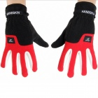 GF-05 Outdoor Cycling Winter Gloves - Black + Red (Size L)