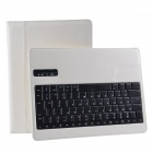 Detachable Wireless Bluetooth V3.0 84-key Keyboard w/ PU Leather Case for Ipad 2 / 3 / 4 - White