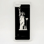 CAPF Statue of Liberty Flash Light LED Color Changing Protective ABS Back Case for Iphone 5C - Black