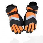 Men's And Women's Nocturnal Reflective Gloves - Orange + Black (Size L)
