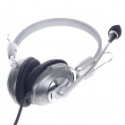 Raoopt RP-1521 Stereo Sound Headphones w/ Microphone / Wired Control - Black + Gray + Titanium