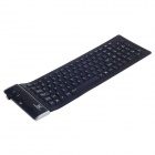 Microkingdom MK-3100 USB 2.0 Foldable Silicone Waterproof 104-Key Keyboard - Black