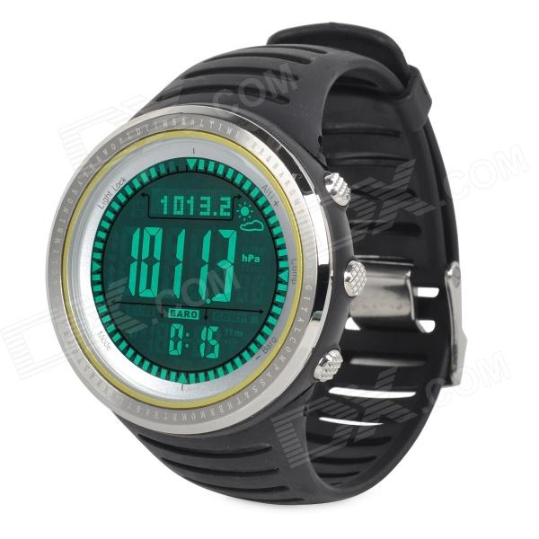Outdoor Multifunction Digital Sports Watch w/ Altimeter / Compass / Barometer - Black + Silver