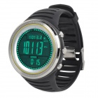 Outdoor Multifuncional Digital Sports Watch w / Altímetro / Compass / Barometer - Preto + Prata
