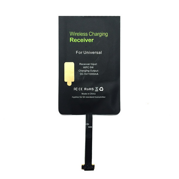 Itian Wireless Charging Receiver for Micro USB Mobile Phone - Black
