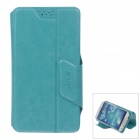 SHS Stylish Universal Protective PU Leather Case Stand for Samsung Galaxy S3 / S4 - Blue (Size-M)