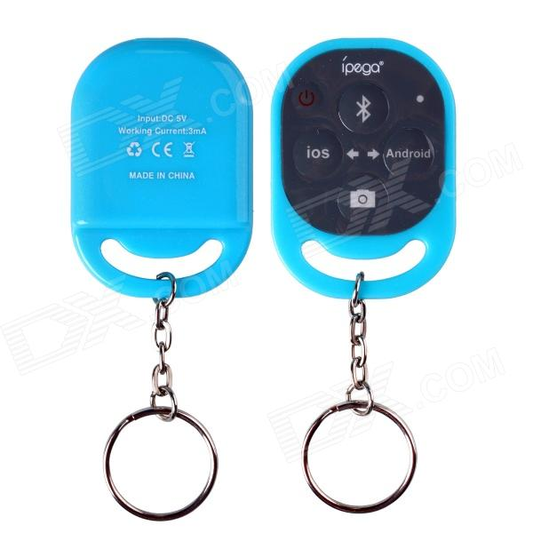 Ipega PG-9019 Bluetooth Remote Control Self Timer Camera Shutter for iOS / Android Phone - Blue universal bluetooth remote camera control self timer release shutter for samsung s3 s4 iphone 4 5 for ipad blackberry etc