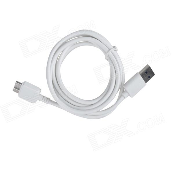 KS-U330 USB 3.0 Male to Micro B 9-Pin Male Data / Charging Cable for Samsung Galaxy Note 3 - White usb to micro usb charging data cable for samsung galaxy note 3 white black 100cm